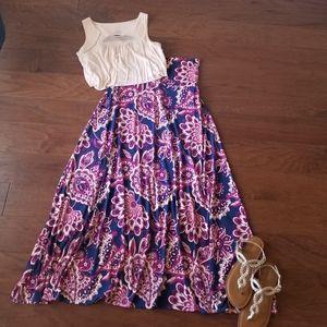 LuLaRoe Paisley Patterned Maxi Skirt